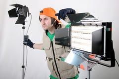 Operador ligero Foto de archivo libre de regalías