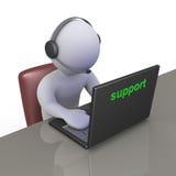 Operador no centro de atendimento do apoio Imagens de Stock