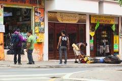 Operador turístico em Banos, Equador Fotos de Stock Royalty Free