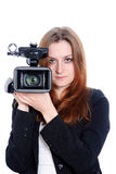 Operador video Fotos de archivo libres de regalías