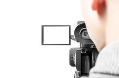 Operador video Imagen de archivo libre de regalías