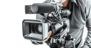 Operador video Foto de archivo libre de regalías