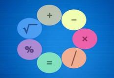 Operadores básicos de la matemáticas stock de ilustración