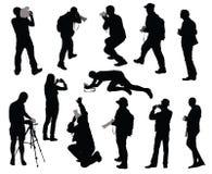 Operadores cinematográficos ajustados Imagens de Stock