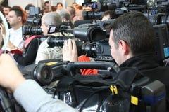 Operadores cinematográficos Fotos de Stock