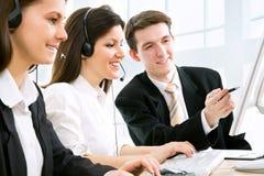 Operadores de telefone Imagens de Stock
