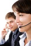 Operadores de telefone amigáveis Fotos de Stock Royalty Free