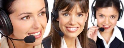 Operadores del centro de atención telefónica fotos de archivo