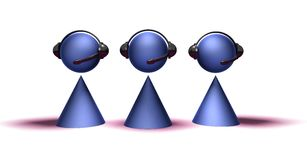 Operadores del centro de atención telefónica libre illustration