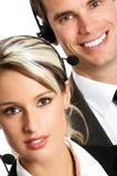 Operadores del centro de atención telefónica Fotografía de archivo