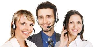Operadores del servicio de atención al cliente Fotos de archivo