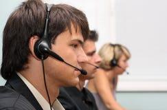 Operadores del servicio de atención al cliente Fotografía de archivo