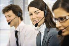 Operadores do serviço de atenção a o cliente Fotografia de Stock