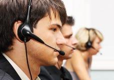 Operadores do serviço de atenção a o cliente Imagens de Stock