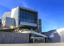 Operahouse de la señal de Dinamarca Aalborg de la casa de la música Imagenes de archivo