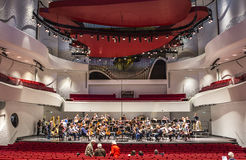 Operahouse för musikhusDanmark Aalborg gränsmärke Arkivbild