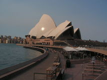 The operahouse in Sydney is world famous. Sidneys Operahouse was created  by Danish architect Jørn Utzon and was inagurated  in 1972. He was persona non grata Stock Image