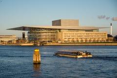 Operahouse w schronieniu Kopenhaga Dani zdjęcie stock
