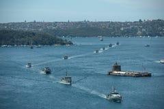 Operahuis en marinevloot. Royalty-vrije Stock Afbeelding