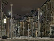 Operahuis op Opernplatz, Bayreuth tijdens Kerstmis Stock Afbeeldingen