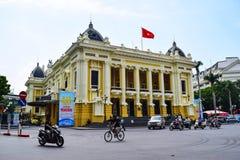 Operahuis van Hanoi Ha Noi is het kapitaal en de tweede - grootste stad in Vietnam Stock Fotografie