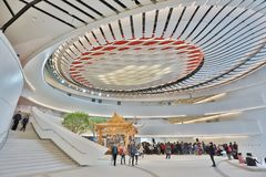 Operahus av den Hong Kong Xiqu mitten arkivbilder