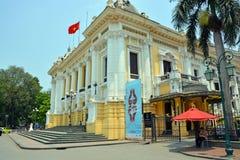 Operahus Hanoi Vietnam Arkivbilder