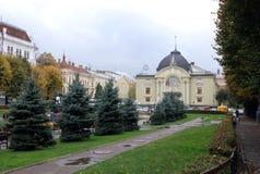 Operahus i Chernivtsi Royaltyfri Fotografi