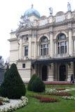 Operahus i Kracow Royaltyfria Bilder