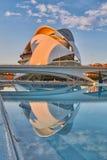 Operahus i staden av konster & vetenskaper som är komplexa i Valencia arkivbilder