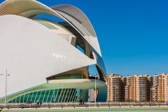 Operahus i Valencia Spain Royaltyfria Foton