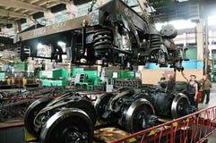 Operai alla fabbrica Fotografie Stock