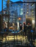 Operai della costruzione Fotografia Stock