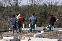Operai di costruzione Fotografie Stock Libere da Diritti