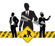 Operai di costruzione Immagini Stock