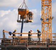 Operai di costruzione Immagini Stock Libere da Diritti
