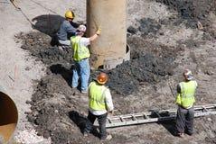 Operai di costruzione Immagine Stock