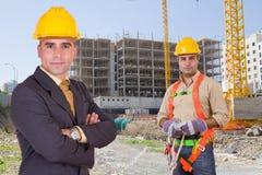 Operai di costruzione Fotografie Stock
