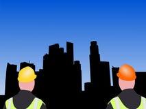 Operai di costruzione di Singapore illustrazione di stock