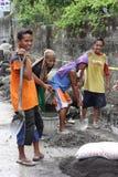 Operai di costruzione in Filippine Fotografie Stock