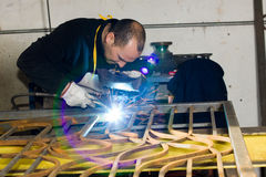 Operai metallurgici Fotografia Stock Libera da Diritti