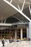 Operaio cinese che lavora per la stazione ferroviaria Fotografia Stock Libera da Diritti