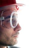 operaio con il casco Immagini Stock Libere da Diritti