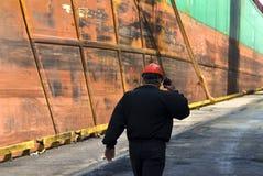 Operaio del cantiere navale Fotografia Stock