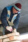 Operaio del muratore della costruzione Immagine Stock Libera da Diritti
