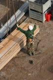 Operaio di costruzione Fotografie Stock