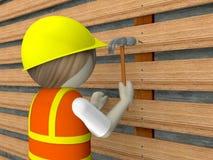 operaio di costruzione 3d Fotografia Stock