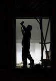 Operaio di costruzione Immagine Stock