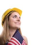 Operaio di costruzione Fotografia Stock