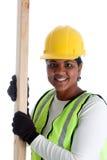 Operaio di costruzione della donna Immagini Stock